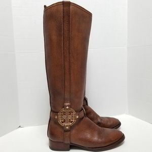 Tory Burch Brown Leather Amanda Tall Boots Size 7